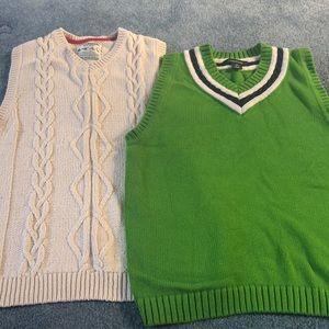 Boys sweater vests Osh Kosh and Lands End